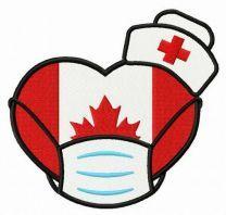 Canadian nurses embroidery design