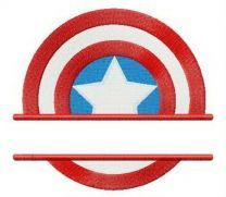 Captain America's shield strength badge