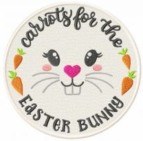 Carrots for the Easter embroidery design