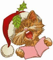 Cat sings Christmas carols 2