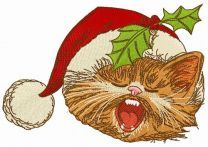 Cat sings Christmas carols 3