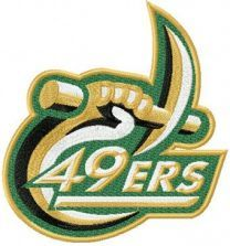 Charlotte 49ers Logo machine embroidery design