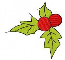 Christmas berries 2 free embroidery design