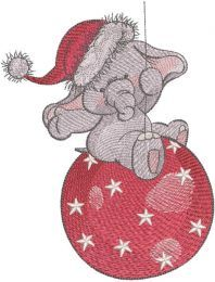 Christmas circus embroidery design