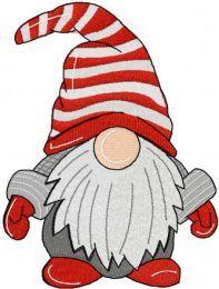 Christmas cute gnome embroidery design