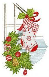 Christmas decoration of railing