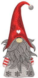 Christmas dwarf embroidery design