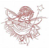 Christmas fairy embroidery design 3