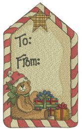 Christmas gift label