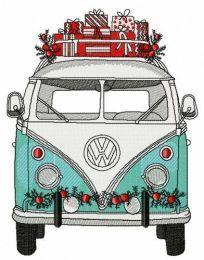 Christmas hippie van