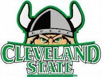 Cleveland State University Logo machine embroidery design