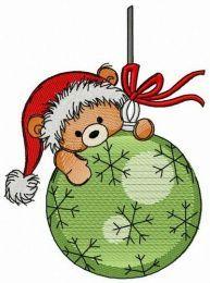 Climbing on Christmas ball