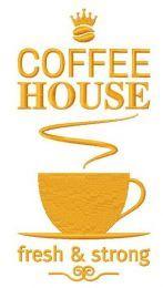 Coffee house machine embroidery design