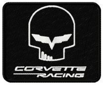 Corvette racing logo machine embroidery design