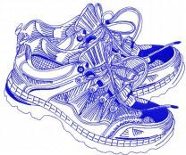 Cross shoes embroidery design 2