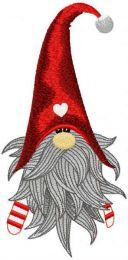 Cute Christmas Dwarf embroidery design