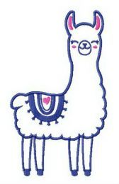 Cute llama embroidery design
