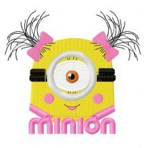 Cute Minion machine embroidery design 2
