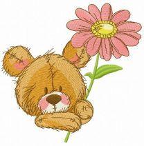 Cute teddy bear with pyrethrum 2