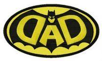 DAD Batman oval badge