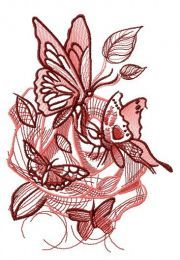 Dance of butterflies embroidery design