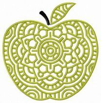 Decorative green apple