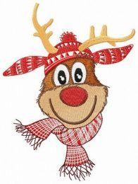 Deer in scandinavian hat