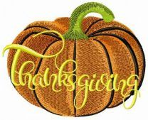 Delicious pumpkin embroidery design