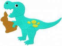Dinosaur chocolate bunny embroidery design