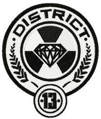 District 13 badge machine embroidery design