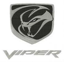 Dodge Viper logo embroidery design