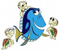 Dory and little turtles