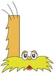 Dr. Seuss alphabet letter L