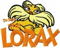 Lorax with Logo embroidery design