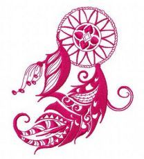 Dreamcatcher embroidery design 27