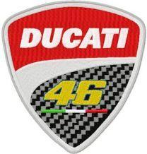 Ducati 46 Rossi logo machine embroidery design