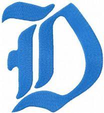 Duke D logo embroidery design