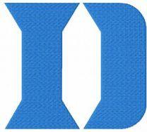 Duke University D Logo embroidery design