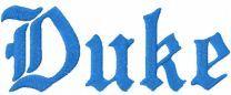 Duke University Wordmark Gothic logo embroidery design