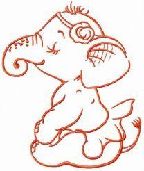 Elephant before perfomance