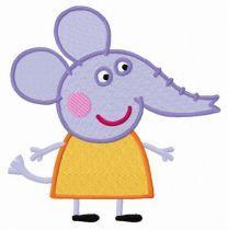 Elephant Emily embroidery design
