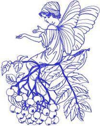 Elf machine embroidery design