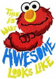 Elmo Looks Like Awesome