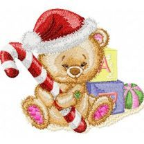 Christmas Teddy Bear with Gifts