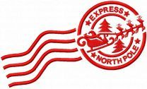 Express North Pole embroidery design
