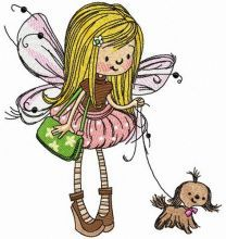 Fairy with lapdog