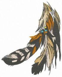 Falcon feathers
