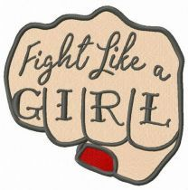 Fight like a girl fist