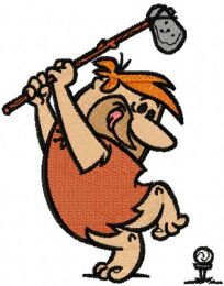 Barney plays golf