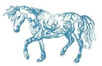 Floral horse embroidery design 2